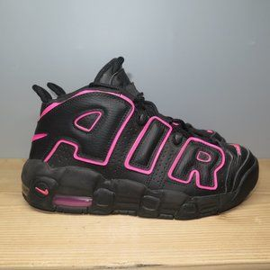 Nike Air More Uptempo GS Black Pink Size 7.5